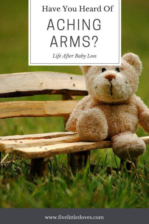 Aching Arms | www.achingarms.com is a charity where one bereaved parent donates a bear to give to another, to provide comfort and help them cope with grief www.fivelittledoves.com