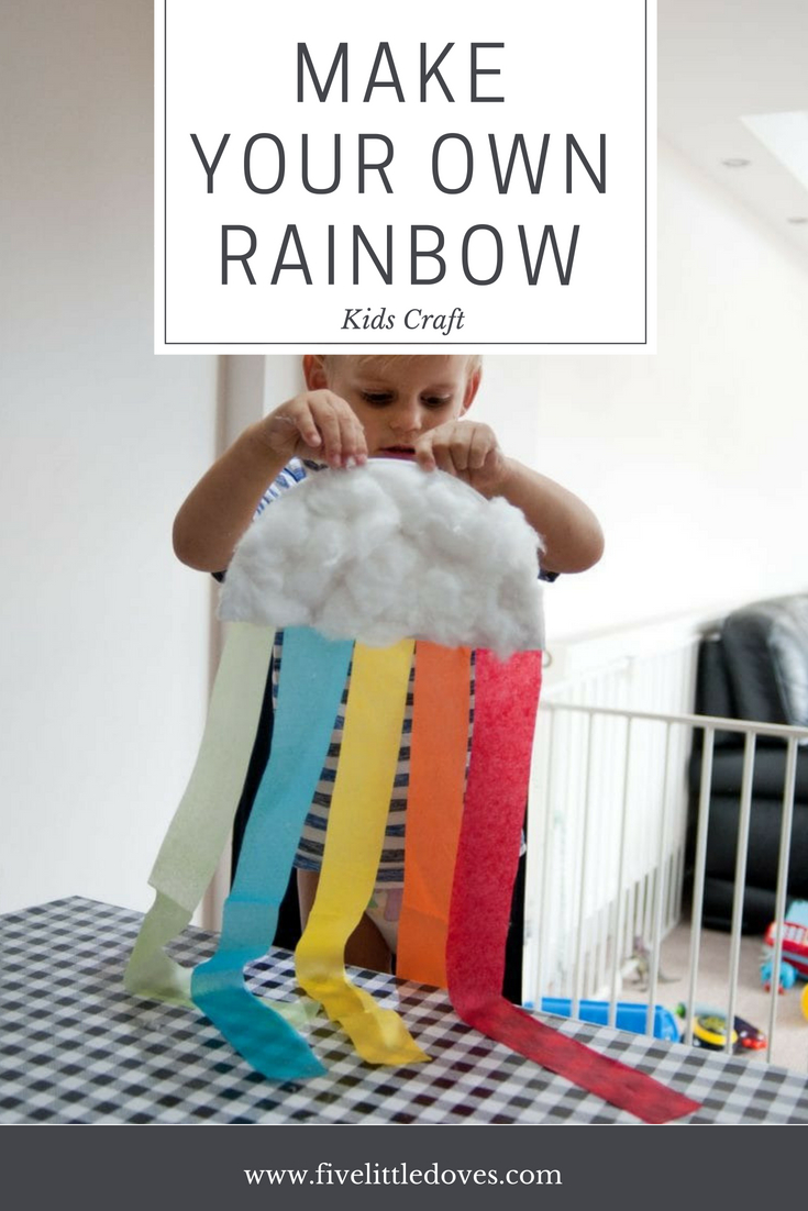 Rainbow Craft | A really easy craft for toddlers and preschool age children as a rainy day activity. It is quite quick and doesn't make too much mess so you don't have much to tidy up afterwards. Give it a try! www.fivelittledoves.com