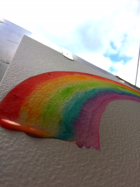 Introducing a week of rainbows. Day 1: What do rainbows mean to our family?