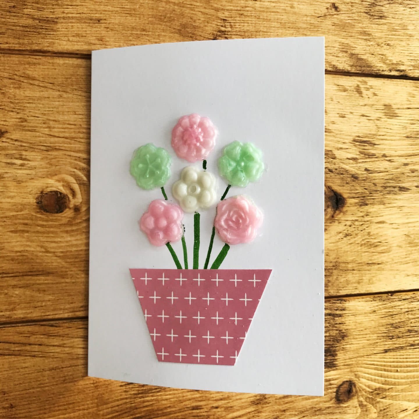 I was so impressed with how well the girls copied my design easily creating a gorgeous hand made mothers day card that beats any you can buy in the shop