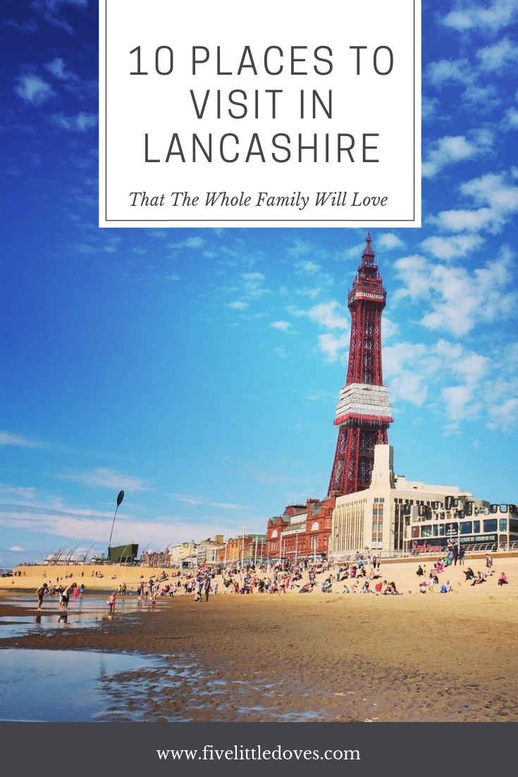 10 Places To Visit in Lancashire | 10 of the best days out in the Lancashire area that you don't want to miss. Blackpool Zoo, Blackpool Tower, Go-Ape and more. There is something for everyone from toddlers to tweens and even the adults will have fun. Have the perfect family day out at one of these top 10 attractions www.fivelittledoves.com