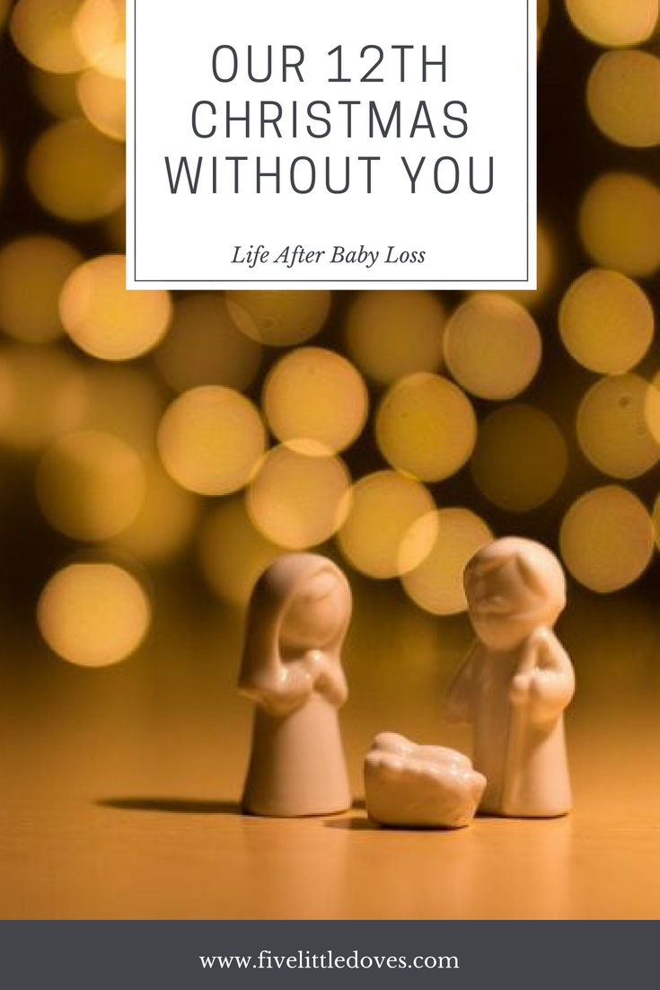 Our 12th Christmas Without You | Special occasions and holidays will always be painful when you continue on after someone has died, especially so when it is your child that you are mourning. A mom writes about her experiences with life after her son was born sleeping in the third trimester of her pregnancy www.fivelittledoves.com
