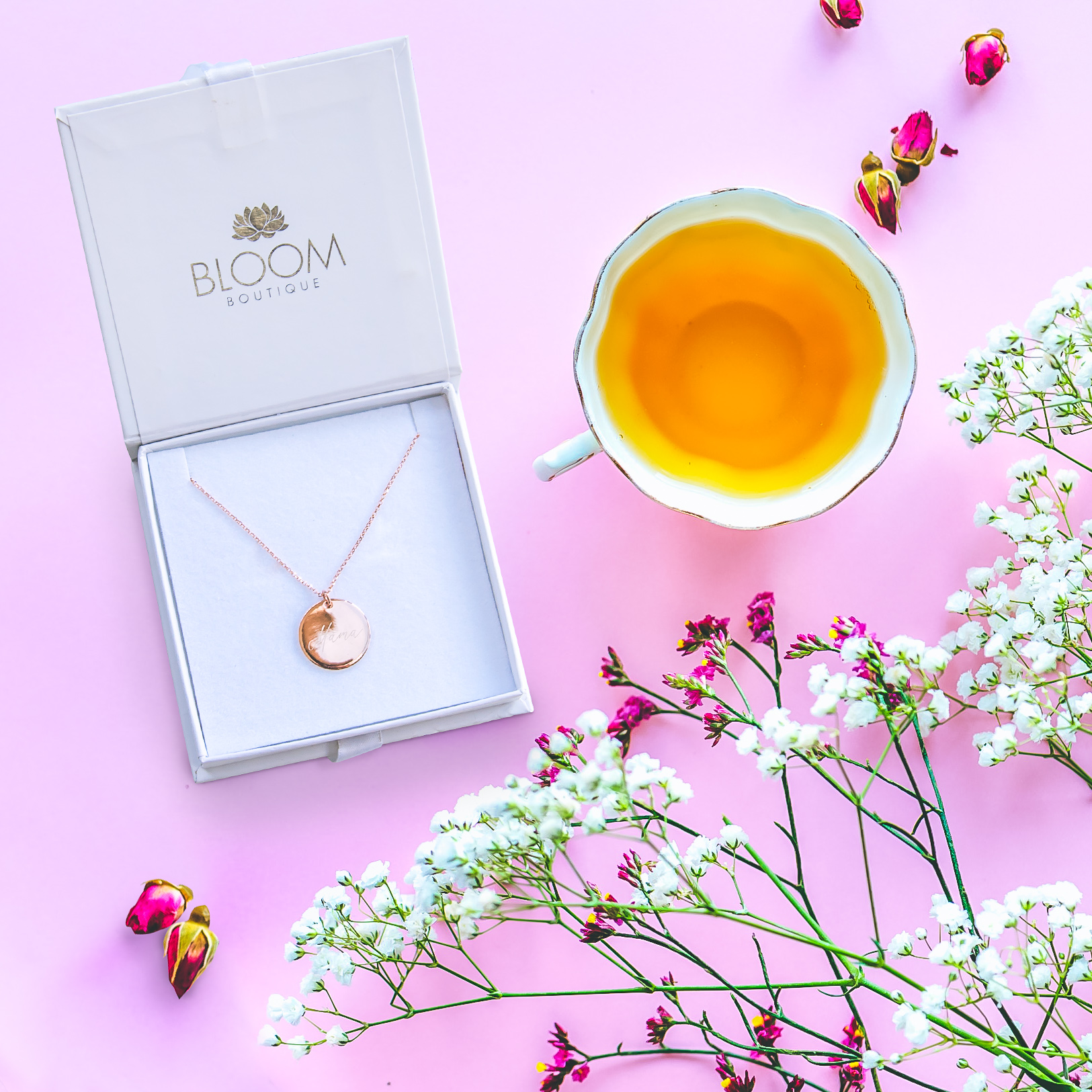 "Win a Bloom Boutique ""Mama"" rose gold necklace"