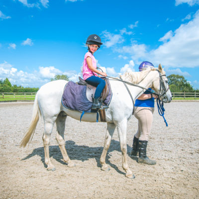 Discovering a love of horse riding